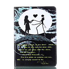 baratos Escolhas da Moda-Capinha Para Apple iPad 4/3/2 Porta-Cartão Carteira Com Suporte Flip Magnética Estampada Capa Proteção Completa Coração Mulher Sensual
