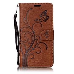 Для Sony Xperia XA E5 бабочка и цветок тиснением модель PU кожаный материал кошелек функции телефона случае