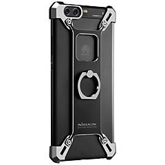 For Etuier Stødsikker Med stativ Ringholder Bagcover Etui Helfarve Hårdt Metal for Huawei Huawei P10 Plus Huawei P10