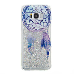 voordelige Galaxy S6 Edge Hoesjes / covers-hoesje Voor Samsung Galaxy S8 Plus S8 Stromende vloeistof Transparant Patroon Achterkantje Transparant Dromenvanger Glitterglans Zacht TPU