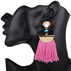 preiswerte Ohrringe-Damen Quaste Tropfen-Ohrringe - Quaste, überdimensional Rot / Blau / Rosa / Lila Für Hochzeit / Party / Besondere Anlässe