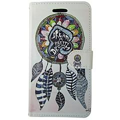 billige Galaxy A3 Etuier-Etui Til Samsung Galaxy A5(2017) A3(2017) Pung Kortholder Med stativ Flip Heldækkende Geometrisk mønster Tegneserie Fjer Blødt Kunstlæder