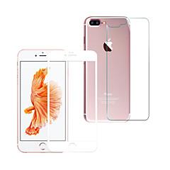 Недорогие Защитные пленки для iPhone 7-Защитная плёнка для экрана Apple для Закаленное стекло 1 ед. Защитная пленка для экрана и задней панели Против отпечатков пальцев Защита