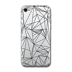 Назначение iPhone X iPhone 8 Чехлы панели С узором Задняя крышка Кейс для Плитка Геометрический рисунок Мягкий Термопластик для Apple
