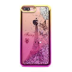 halpa iPhone 6 Plus kotelot-Etui Käyttötarkoitus Apple iPhone 7 Plus iPhone 7 Pinnoitus Virtaava neste Kuvio Takakuori Kimmeltävä Eiffel-torni Pehmeä TPU varten