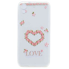 halpa HTC kotelot / kuoret-HTC Desire 626 suojus läpinäkyvä kuvio takakansi tapauksessa kukka pehmeä TPU