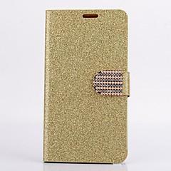 halpa Galaxy Note 4 kotelot / kuoret-Samsung Galaxy Note 4 suojus kortin haltija lompakon strassi jalustalla flip kokovartalo tapauksessa yksivärinen glitter loistaa kova PU