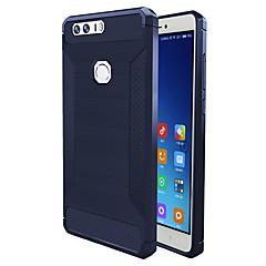 tanie Etui / Pokrowce do Huawei-Kılıf Na Huawei Odporne na wstrząsy Czarne etui Solid Color Miękkie TPU na Honor 8 Huawei