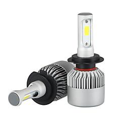 お買い得  カーアクセサリー-2pcs H7 車載 電球 36W/pcs*2W COB 3600lm LED ヘッドランプ
