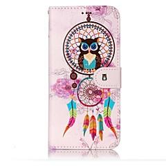billige Galaxy S6 Edge Etuier-Etui Til Samsung Galaxy S8 Plus S8 Pung Kortholder Med stativ Flip Præget Mønster Magnetisk Heldækkende Ugle Drømme fanger Hårdt