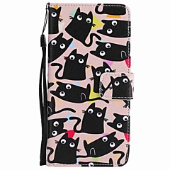 For Motorola Moto G5 Plus G5 Case Cover Card Holder Wallet with Stand Flip Pattern Full Body Case Cat Hard PU Leather