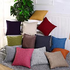 mode 12 kleuren solide kussensloop eenvoudige platte decoratieve kussensloop huisdecoratie