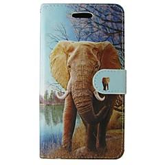 billige Galaxy A3 Etuier-Etui Til Samsung Galaxy A5(2017) A3(2017) Pung Kortholder Med stativ Flip Heldækkende Elefant Dyr Tegneserie Blødt Kunstlæder for A3