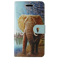 tok Για Samsung Galaxy A5(2017) A3(2017) Πορτοφόλι Θήκη καρτών με βάση στήριξης Ανοιγόμενη Πλήρης κάλυψη Ελέφαντας Ζώο Κινούμενα σχέδια