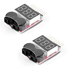 お買い得  Arduino 用アクセサリー-2パックrcリポバッテリーのモニターアラームテスターチェッカー低電圧ブザーアラーム1-8sリポ生活のためのledインジケーターリムリチウムイオンバッテリー