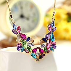 preiswerte Halsketten-Damen Statement Ketten - Krystall Einzigartiges Design, Modisch, Euramerican Regenbogen, Rosa, Hellblau Modische Halsketten Für Party