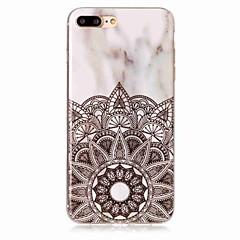 Недорогие Кейсы для iPhone X-Назначение iPhone X iPhone 8 Чехлы панели IMD Задняя крышка Кейс для Мандала Мрамор Мягкий Термопластик для Apple iPhone X iPhone 8 Plus
