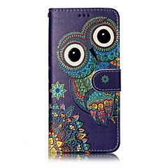 olcso Galaxy S6 Edge tokok-Case Kompatibilitás Samsung Galaxy S8 Plus S8 Pénztárca Kártyatartó Állvánnyal Flip Minta Mágneses Teljes védelem Bagoly Állat Kemény