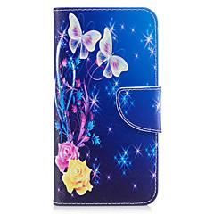 Недорогие Чехлы и кейсы для Huawei серии Y-Кейс для Назначение Huawei P9 Huawei P9 Lite Huawei Бумажник для карт Кошелек со стендом Флип Магнитный С узором Чехол Бабочка Твердый