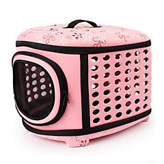 Gato Cachorro Tranportadoras e Malas Animais de Estimação Transportadores Portátil Respirável Flor Bege Cinzento Rosa claro