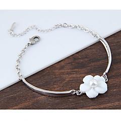 preiswerte Armbänder-Damen Bettelarmbänder - Hülle Blume Modisch Armbänder Weiß Für Geburtstag