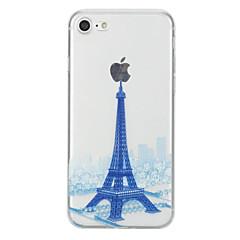 Недорогие Кейсы для iPhone 6-Кейс для Назначение Apple iPhone 7 Plus iPhone 7 С узором Кейс на заднюю панель Эйфелева башня Мягкий ТПУ для iPhone 7 Plus iPhone 7