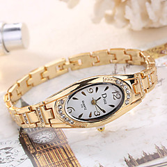 preiswerte Damenuhren-Damen Armbanduhr Kreativ / Cool Legierung Band Charme / Luxus / Freizeit Silber / Gold / Rotgold