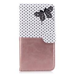 Dla jabłko iphone 7 plus 7 pokrowiec obudowa uchwyt karty portfel z podstawką odwróć wzór pełny ciało przypadku motyl twardy pu skóry na 6