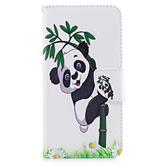 Назначение iPhone X iPhone 8 Чехлы панели Бумажник для карт Кошелек со стендом Флип С узором Чехол Кейс для Панда Твердый Искусственная