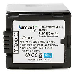 ismartdigi du21 7.2V 2500mAh kamera akkumulátor Panasonic NV-GS500 GS28 gs188 gs180 gs300gk