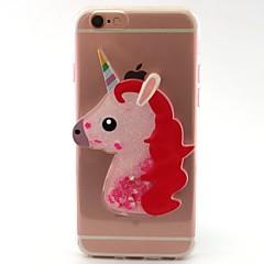 Назначение iPhone X iPhone 8 Чехлы панели Движущаяся жидкость Прозрачный С узором Своими руками Задняя крышка Кейс для единорогом