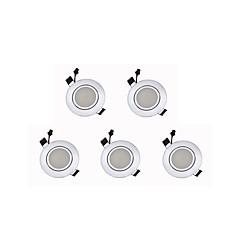 tanie Oświetlenie wewnętrzne-Oświetlenie downlight LED Ciepła biel Zimna biel Żarówki LED LED 5