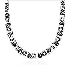 Недорогие Ожерелья-Муж. Ожерелья-бархатки - Титановая сталь Винтаж Серебряный Ожерелье Назначение Подарок, Повседневные
