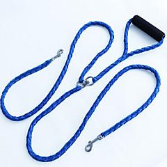 저렴한 -강아지 더블 리드줄 블랙 레드 블루