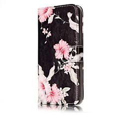 お買い得  Huawei Pシリーズケース/ カバー-ケース 用途 Huawei社P9ライト Huawei Huawei社P8ライト カードホルダー ウォレット スタンド付き フリップ フルボディーケース フラワー ハード PUレザー のために P10 Lite P10 Huawei P9 Lite P8 Lite