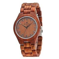 お買い得  メンズ腕時計-Redear 男性用 腕時計 ウッド 日本産 クォーツ 木製 ウッド バンド ハンズ ぜいたく エレガント ブラウン - Brown / ステンレス