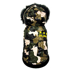 halpa Koirien vaatteet ja tarvikkeet-Koira Haalarit Koiran vaatteet Lämmin Hengittävä Rento/arki USA / USA Asu Lemmikit