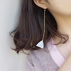 preiswerte Ohrringe-Damen Tropfen-Ohrringe Modisch Euramerican Feder Aleación Dreieck Schmuck Alltag Normal