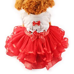 Γάτα Σκύλος Φορέματα Smoching Ρούχα για σκύλους Πάρτι Καθημερινά Γάμος Φιόγκος Κίτρινο Κόκκινο Πράσινο