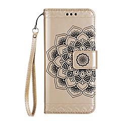 Недорогие Чехлы и кейсы для LG-Кейс для Назначение LG K8 / LG / LG K10 Кошелек / Бумажник для карт / со стендом Чехол Мандала Твердый Кожа PU для LG G6