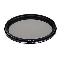 Andoer 72mm nd fader neutre densité réglable nd2 à nd400 filtre variable pour canon nikon dslr camera