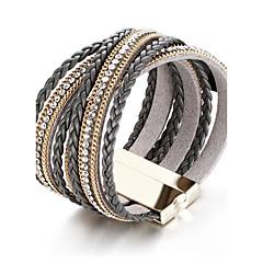preiswerte Armbänder-Damen Wickelarmbänder - Strass Freunde Erklärung, Luxus, Retro Armbänder Schwarz Für Weihnachten Weihnachts Geschenke Party
