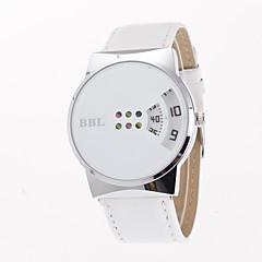 preiswerte Damenuhren-Damen Modeuhr / Einzigartige kreative Uhr Kreativ Leder Band Freizeit Schwarz / Weiß / Ein Jahr / Tianqiu 377