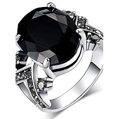 preiswerte Ringe-Damen Kristall Statement-Ring / Ring - Harz, Strass Personalisiert, Luxus, Einzigartiges Design 7 / 8 / 9 Schwarz / Rot / Blau Für Weihnachten / Weihnachts Geschenke / Hochzeit