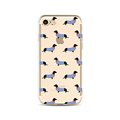 Capinha Para Apple iPhone X iPhone 8 Plus Transparente Estampada Capa Traseira Azulejo Cachorro Macia TPU para iPhone X iPhone 8 Plus