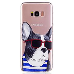tanie Galaxy S6 Etui / Pokrowce-Kılıf Na Samsung Galaxy S8 Plus S8 Wzór Czarne etui Pies Rysunek Miękkie TPU na S8 Plus S8 S7 edge S7 S6 edge S6