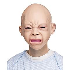 Halloween lateks oburzony szczęśliwy płacz niemowlę kostium maska halloween masaż pełny strona maski nowy