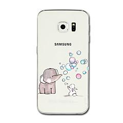 tanie Galaxy S6 Edge Etui / Pokrowce-Kılıf Na Samsung Galaxy S8 Plus S8 Przezroczyste Wzór Etui na tył Rysunek Słoń Miękkie TPU na S8 S8 Plus S7 edge S7 S6 edge plus S6 edge