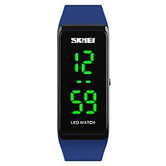 preiswerte Damenuhren-SKMEI Damen digital Digitaluhr Armbanduhr Sportuhr Japanisch Kalender Wasserdicht LED leuchtend PU Band Modisch Cool Schwarz Blau Rot