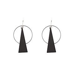 お買い得  イヤリング-女性用 ドロップイヤリング  -  オリジナル, 幾何学図形, シンプルなスタイル ブラック 用途 結婚式 記念日 住宅着水